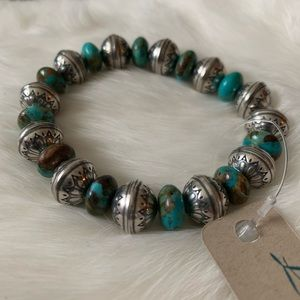 laura Ingalls Jewelry - NWT • Laura Ingalls turquoise sterling bracelet